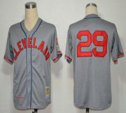 Wholesale Mitchell And Ness 1948 Indians #29 Satchel Paige Grey Stitched Baseball Jersey