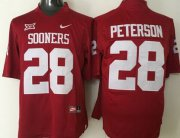 Wholesale Cheap Men's Oklahoma Sooners #28 Adrian Peterson Red College Football Nike Jersey