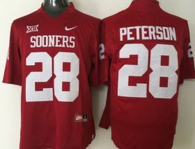 Wholesale Cheap Men\'s Oklahoma Sooners #28 Adrian Peterson Red College Football Nike Jersey