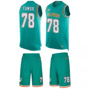 Wholesale Cheap Nike Dolphins #78 Laremy Tunsil Aqua Green Team Color Men's Stitched NFL Limited Tank Top Suit Jersey