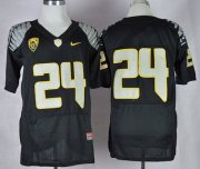 Wholesale Cheap Oregon Ducks #24 Thomas Tyner 2013 Black Elite Jersey