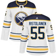 Wholesale Cheap Adidas Sabres #55 Rasmus Ristolainen White Road Authentic Women's Stitched NHL Jersey