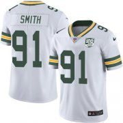 Wholesale Cheap Nike Packers #91 Preston Smith White Men's 100th Season Stitched NFL Vapor Untouchable Limited Jersey
