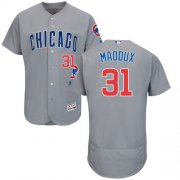 Wholesale Cubs #31 Greg Maddux Grey Flexbase Authentic Collection Road Stitched Baseball Jersey