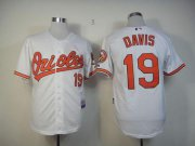 Wholesale Orioles #19 Chris Davis White Cool Base Stitched Baseball Jersey
