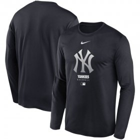 Wholesale Cheap Men\'s New York Yankees Nike Navy Authentic Collection Legend Performance Long Sleeve T-Shirt