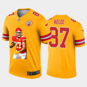 Cheap Kansas City Chiefs #87 Travis Kelce Nike Team Hero Vapor Limited NFL Jersey Yellow