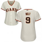 Wholesale Cheap Giants #9 Brandon Belt Cream Home Women's Stitched MLB Jersey
