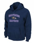 Wholesale Cheap Baltimore Ravens Heart & Soul Pullover Hoodie Dark Blue