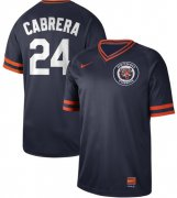 Wholesale Cheap Nike Tigers #24 Miguel Cabrera Navy Authentic Cooperstown Collection Stitched MLB Jersey