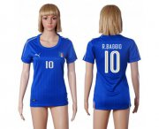 Wholesale Cheap Women's Italy #10 R.Baggio Home Soccer Country Jersey