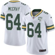 Wholesale Cheap Nike Packers #64 Justin McCray White Men's 100th Season Stitched NFL Vapor Untouchable Limited Jersey