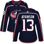 Wholesale Cheap Adidas Blue Jackets #13 Cam Atkinson Navy Blue Home Authentic Women's Stitched NHL Jersey