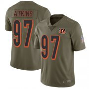 Wholesale Cheap Nike Bengals #97 Geno Atkins Olive Men's Stitched NFL Limited 2017 Salute To Service Jersey