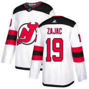 Wholesale Cheap Adidas Devils #19 Travis Zajac White Road Authentic Stitched NHL Jersey