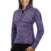 Wholesale Cheap Pittsburgh Penguins Antigua Women's Fortune 1/2-Zip Pullover Sweater Purple