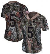 Wholesale Cheap Nike Panthers #5 Teddy Bridgewater Camo Women's Stitched NFL Limited Rush Realtree Jersey