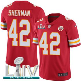 Wholesale Cheap Nike Chiefs #42 Anthony Sherman Red Super Bowl LIV 2020 Team Color Youth Stitched NFL Vapor Untouchable Limited Jersey