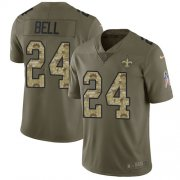 Wholesale Cheap Nike Saints #24 Vonn Bell Olive/Camo Men's Stitched NFL Limited 2017 Salute To Service Jersey