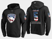 Wholesale Cheap Panthers #5 Aaron Ekblad NHL Banner Wave Usa Flag Black Hoodie