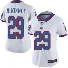 Wholesale Cheap Nike Giants #29 Xavier McKinney White Women\'s Stitched NFL Limited Rush Jersey