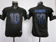 Wholesale Cheap Nike Giants #10 Eli Manning Black Youth Stitched NFL Impact Elite Jersey
