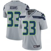 Wholesale Cheap Nike Seahawks #33 Jamal Adams Grey Alternate Men's Stitched NFL Vapor Untouchable Limited Jersey