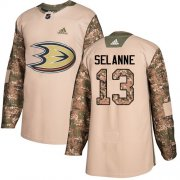 Wholesale Cheap Adidas Ducks #13 Teemu Selanne Camo Authentic 2017 Veterans Day Stitched NHL Jersey