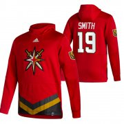 Wholesale Cheap Vegas Golden Knights #19 Reilly Smith Adidas Reverse Retro Pullover Hoodie Red