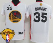 Wholesale Cheap Men's Warriors #35 Kevin Durant White 2017 Chinese New Year The Finals Patch Stitched NBA Jersey