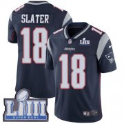 Wholesale Cheap Nike Patriots #18 Matt Slater Navy Blue Team Color Super Bowl LIII Bound Youth Stitched NFL Vapor Untouchable Limited Jersey