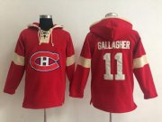 Wholesale Cheap Montreal Canadiens #11 Brendan Gallagher Red Pullover NHL Hoodie