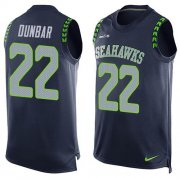 Wholesale Cheap Nike Seahawks #22 Quinton Dunbar Steel Blue Team Color Men's Stitched NFL Limited Tank Top Jersey