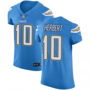 Wholesale Cheap Nike Chargers #10 Justin Herbert Electric Blue Alternate Men's Stitched NFL New Elite Jersey