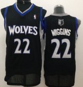 Wholesale Cheap Minnesota Timberwolves #22 Andrew Wiggins Black Swingman Jersey