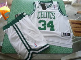 Wholesale Cheap Boston Celtics 34 Paul Pierces white Swingman Basketball Suit