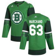 Wholesale Cheap Boston Bruins #63 Brad Marchand Men's Adidas 2020 St. Patrick's Day Stitched NHL Jersey Green.jpg