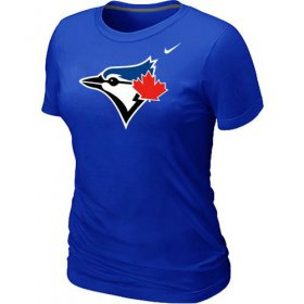 Wholesale Women\'s Nike Toronto Blue Jays Authentic Logo T-Shirt Blue