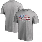 Wholesale Cheap Men's Atlanta Falcons Pro Line by Fanatics Branded Heathered Gray Banner Wave T-Shirt