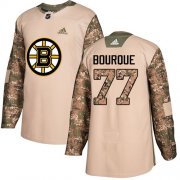 Wholesale Cheap Adidas Bruins #77 Ray Bourque Camo Authentic 2017 Veterans Day Stitched NHL Jersey