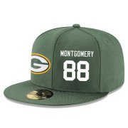 Wholesale Cheap Green Bay Packers #88 Ty Montgomery Snapback Cap NFL Player Green with White Number Stitched Hat