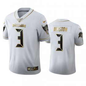 Wholesale Cheap Tampa Bay Buccaneers #3 Jameis Winston Men\'s Nike White Golden Edition Vapor Limited NFL 100 Jersey