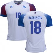 Wholesale Cheap Iceland #18 Magnusson Away Soccer Country Jersey
