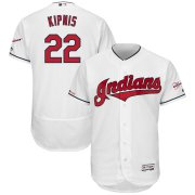 Wholesale Cheap Cleveland Indians #22 Jason Kipnis Majestic Home 2019 All-Star Game Patch Flex Base Player Jersey White