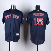 Wholesale Cheap Red Sox #15 Dustin Pedroia Navy Blue Flexbase Authentic Collection Stitched MLB Jersey