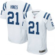 Wholesale Cheap Nike Colts #21 Nyheim Hines White Men's Stitched NFL Elite Jersey