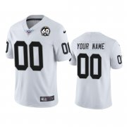 Wholesale Cheap Nike Raiders Custom White 60th Anniversary Vapor Limited Stitched NFL 100th Season Jersey
