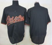 Wholesale Cheap Orioles Blank Black Fashion Stitched MLB Jersey