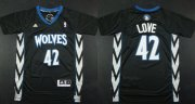 Wholesale Cheap Minnesota Timberwolves #42 Kevin Love Revolution 30 Swingman 2014 Black Jersey