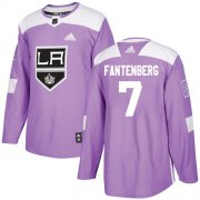 Wholesale Cheap Adidas Kings #7 Oscar Fantenberg Purple Authentic Fights Cancer Stitched NHL Jersey